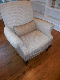 GORGEOUS!!! Purchased at Britt Carter Lake Forest Grey/White Arm Chair (2)