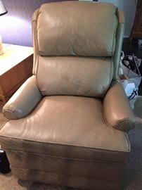 Leather chair used for two months. Check out Craigslist to see it before the sale.