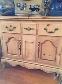 Serving chest w/matching china cabinet.