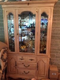 China cabinet with matching serving chest.