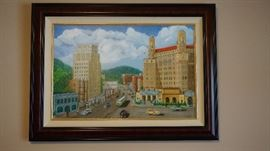 Painting of downtown Hot Springs, Arkansas