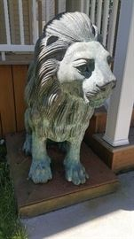 """Copper lion approx 48"""" tall  2 available"""