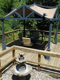 FOUNTAIN - FIRE PIT TABLE - SORRY CHAIRS ARE SPOKEN FOR...