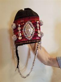Akha hill tribe hats handmade, sewn