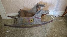 Antique Child's Rocking Horse Chair