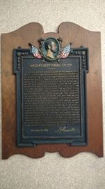 Cast Iron on Wood Lincoln's Gettysburg Speech