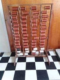 Antique Military Issue Special Services Spools Rack