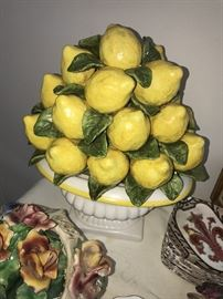 DECORATIVE BOWL WITH LEMONS
