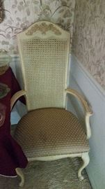 this matches first chair shown in pictures. There are 6 chairs total 2 with arms and 4 without arms