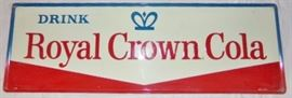 54 W x 18 H Royal Crown Cola Advertising Sign