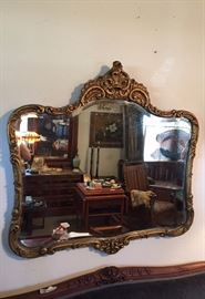 ANTIQUE ORNATE CARVED MIRROR