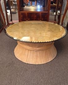 Sheaf of Wheat Coffee Table McGuire Bamboo Rattan