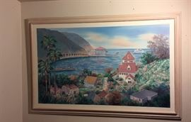 "Original Oil painting by Helen Lee Catalina Island 63""x 41"""
