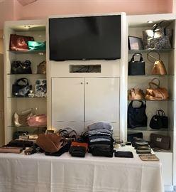 Sooo many designer handbags.