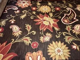 10 x 6.5' hooked rug, excellent condition