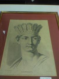 Engraving of Indian