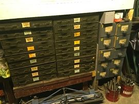 Parts Cabinets are full of bits etc.