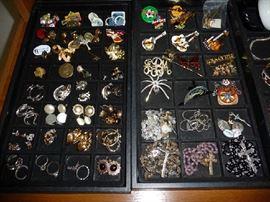 EARRINGS, PINS AND ROSARIES