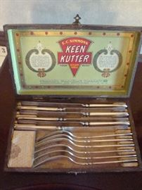 E. C. Simmons Keen Kutter Cutlery Set w/ Original Wood Box