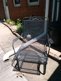 2 rocking style wr iron chairs