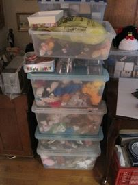 300+ Beanie Babies.  Buy the whole lot for a deal!