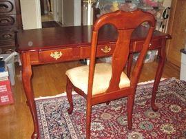 Cherry desk and chair.  Pristine!