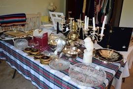 Serving ware and candlesticks