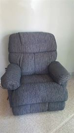 $75   Recliner chair   blue/grey