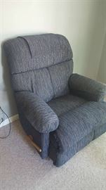 Chair - $75   blue/grey