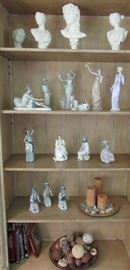 Lladro and Royal Douton, Grecian-inspired decor throughout formal living area
