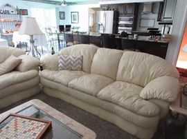 Leather (attached cushions), minor wear