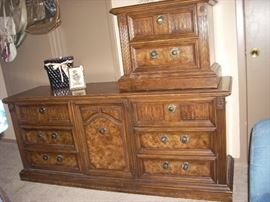 Stanley Dresser shown with the matching Bedside Table (stacked)  priced separately