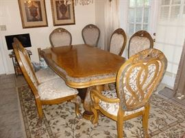 Custom Designer Style Dining Table & 8 Chairs