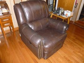 Leather Power Recliner Chair