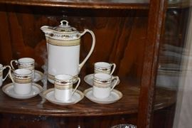 Vintage NIppon Coffee/Chocolate Set with 13 pieces