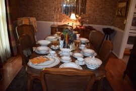 Beautiful Dining Set and China featured here