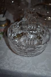 Lovely Clear Glass Basket