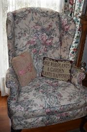 Lovely Wingback Chair part of a set including: Sofa and 2 Wingback Chairs