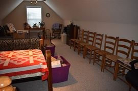 Awesome Ladder Back Rush Seated Chairs, Wood and Iron Twin Beds and much more!