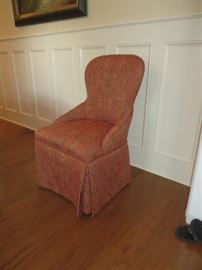 Set of 4 covered chairs