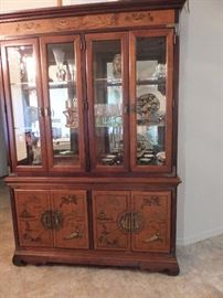 Oriental style china cabinet - very good quality - made around 1940