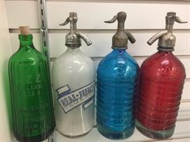 Antique Seltzer Bottles.