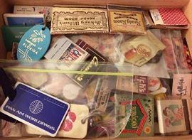 Vintage bag tags, Matches etc.