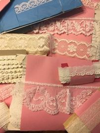 1000+ yards of vintage lace, eyelet woven trims & braid. From 1 or 2 yards each to 36 yard bolts.