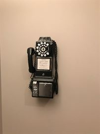 Pay Phone with Rotary Dialer  Furniture  Once and Again Consignment  Madison Montville NJ
