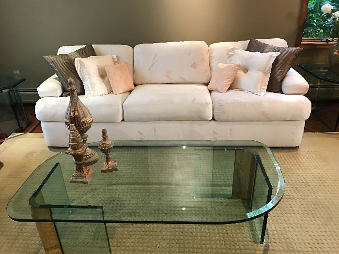 White Couch And Contemporary Glass Table With Home Decor Furniture Once And  Again Consignment Madison Montville