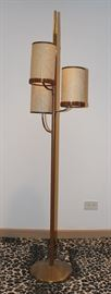 mid century pole lamp - needs work