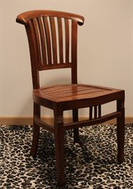 mahogany chair - 2 available (missing stringer)