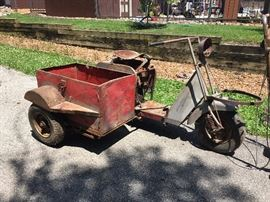 Cushman motor scooter with side cart! SOLD