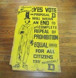 1961 Ann Arbor election, Proposal D prohibition poster